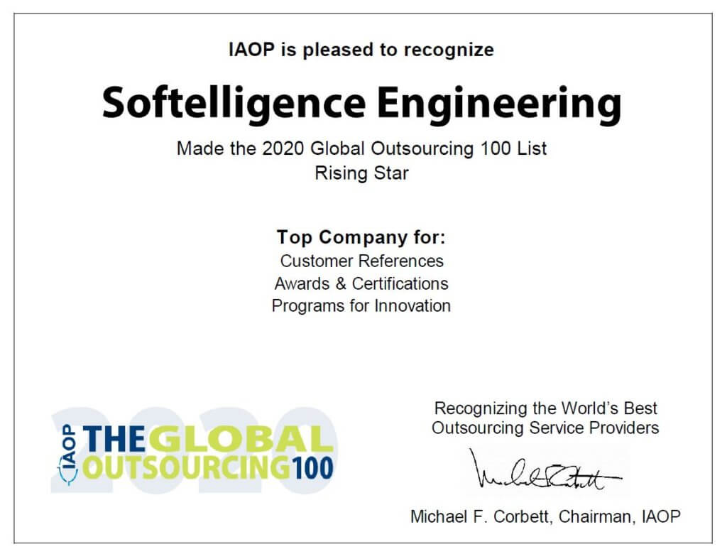 Softelligence Engineering Rising Star IAOP