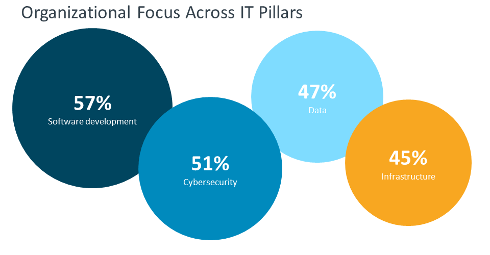 Organizational focus across IT pillars