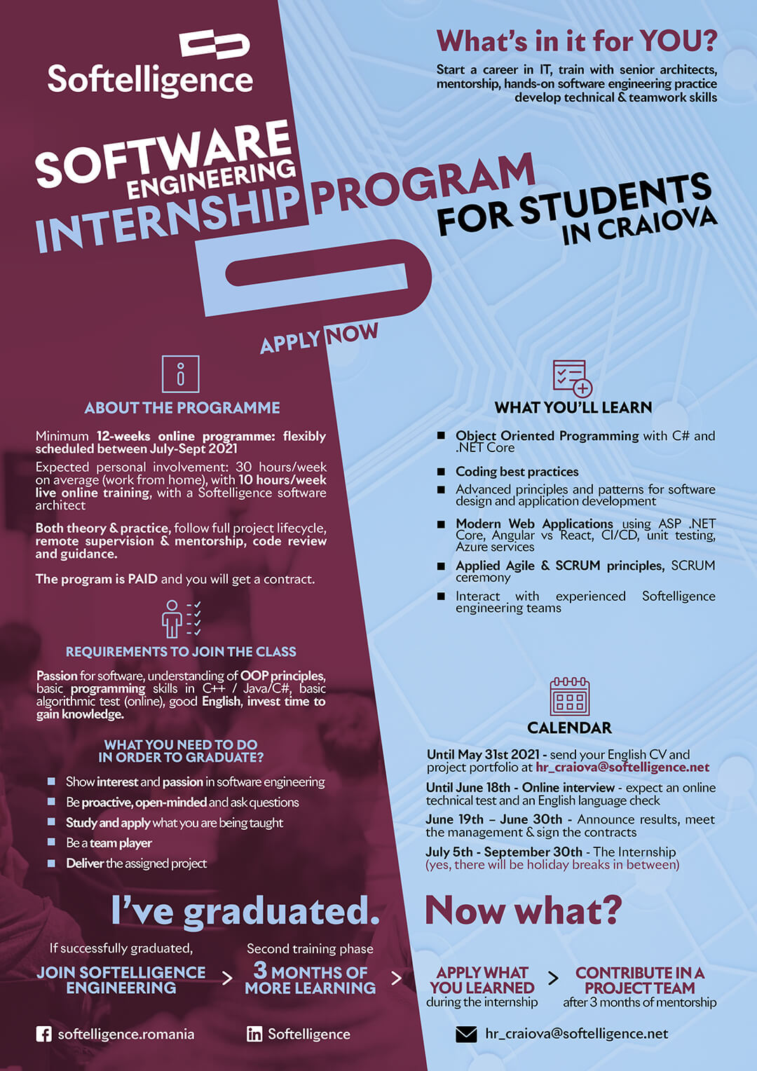 Software Engineering Internship Program, Craiova